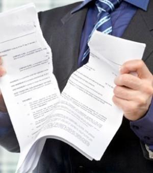 Разрыв документа