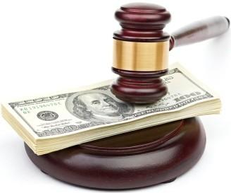 Деньги под молотком судьи