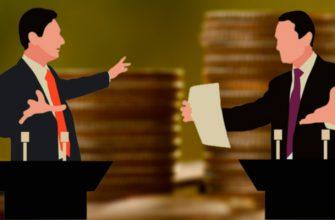 Два деловых человека спорят
