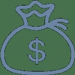 Мешок со знаком доллара