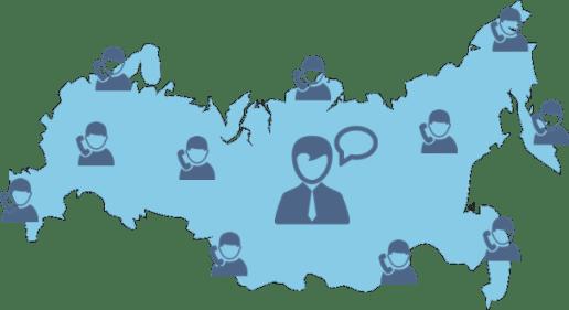 карта России (юрист и клиенты)