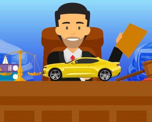 Суд, два автомобиля